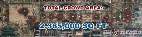The Inauguration Crowd Size Covered 2,230,000 Square Feet