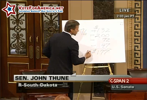 John Thune (R, SD) Can't Add